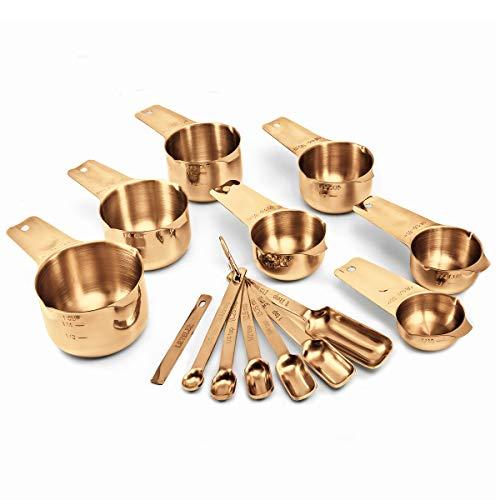 2LB Depot Copper Measuring Cups & Spoons Set of 14