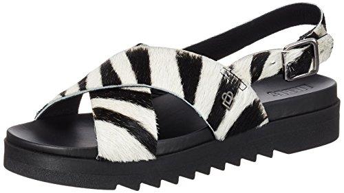 Liebeskind Berlin Damen LS172050-calf Sandalen, Zebra Hyena Grey, 36 EU