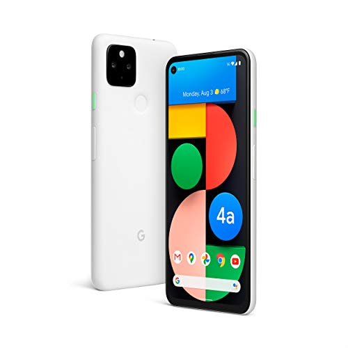 Google Pixel 4a with 5G - Android Phone - New Unlocked Smartphone with Night Sight and Ultrawide Lens - Clearly White