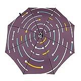 Diseño automático ligero compacto portátil del paraguas del viaje espiral del círculo y alta resistencia del viento
