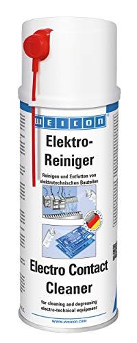 WEICON 11210400 Elektro-Reiniger / 400ml Spray/Kontaktspray für Elektronik/Elektronische Bauteile/Löst Korrosion/Entfernt Staub und Schmutz/Erhöht Leitfähigkeit, Farblos