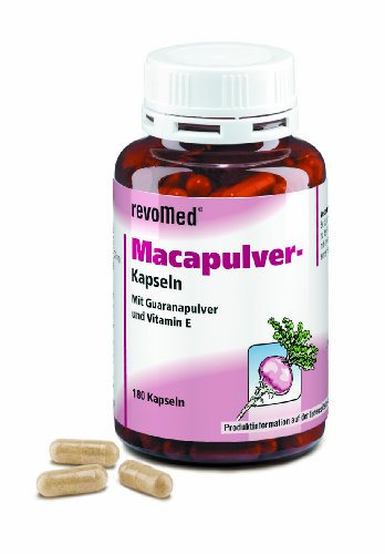 Macapulver-Kapseln regen Körper und Geist an