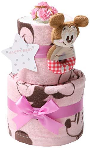 おむつケーキ ディズニー 出産祝い 2段 オムツケーキ 男の子 女の子 身長計 バスタオル ギフト キャラクター プレゼント ダイパーケーキ 豪華 赤ちゃん 話題 専門