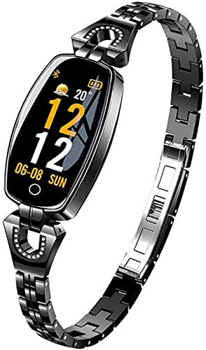 L.B.S Pulsera Inteligente H8 para Android e iOS, Reloj Deportivo Resistente al Agua, monitorización de frecuencia cardíaca y presión Arterial para Hombres y Mujeres(C)
