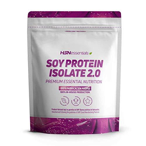 Proteína de Soja Aislada de HSN   Vegan Protein   Proteína Vegana con Stevia   Soy Protein Isolate   Sin Gluten, Sin Colesterol, Sin OMG, Sin Azúcar, Sin Lactosa, Sabor Vainilla, 2 Kg