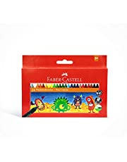 Faber Castell Wax Crayons 24 Color Round 90Mm, 120053