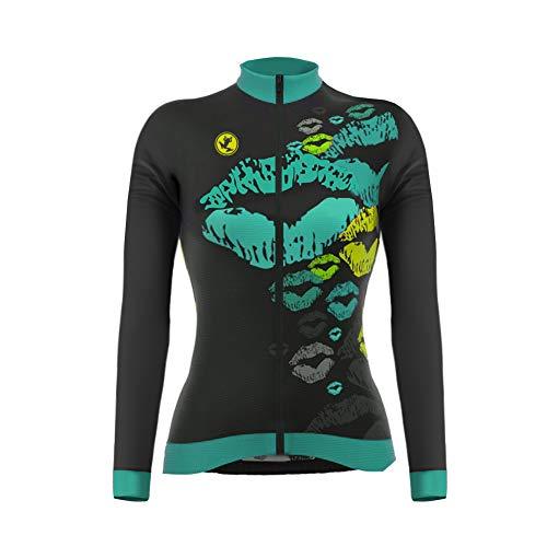 Uglyfrog Magliette Ciclismo Nuovo Designs Invernale Donna Sport Termico Manica Lunga Maglia Bicicletta Abbigliamento Road Bike Wear Moda