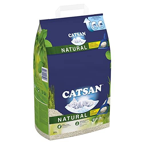 Catsan Natural Clumping Cat Litter, 100% Biodegradable, Extra Absorbent, 20...