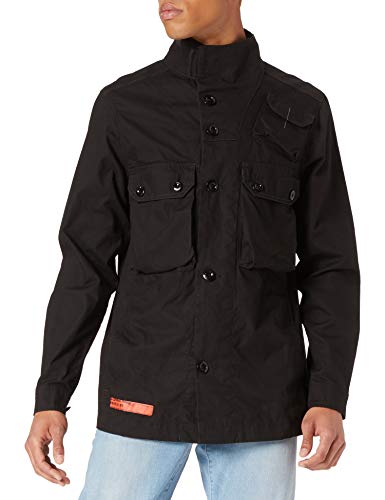 G-STAR RAW Mens Straight Work Utility Outerwear, Dk Black 9288-6484, XL