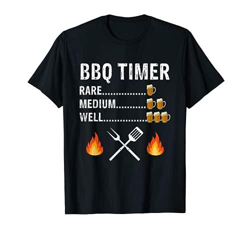 Lustiges Grill-Timer Trinkshirt Biertrinken Grillen Geschenk T-Shirt