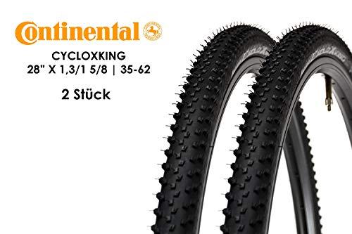 2 Stück 28 Zoll Continental CycloX King Fahrrad Reifen 28x1,3 Mantel 35-622 Tire schwarz