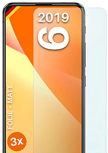 moex Schutzfolie matt kompatibel mit Asus Zenfone 6 (2019) - Folie gegen Reflexionen, Anti Reflex Bildschirmschutz, Matte Bildschirmfolie - 3X Stück