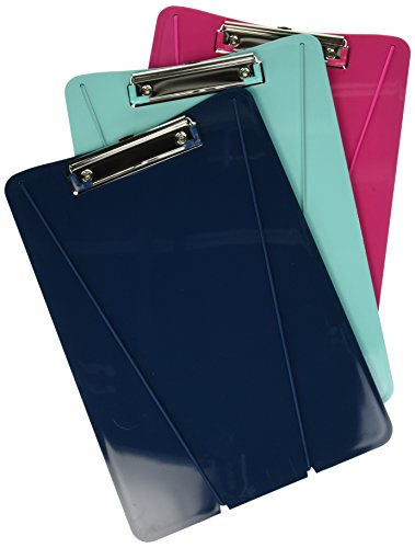 HOM Essence Ultimate Clipboard, 9' x 13' Blue, Pink with White Elastic