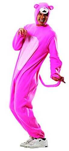 Foxxeo Panther Kostüm Overall Pink Größe XXXL