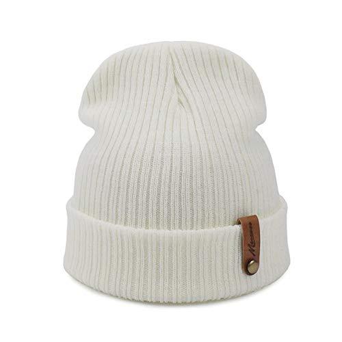 HSJK Sombrero De Invierno De Punto Skuilles Gorros para Mujer Sombreros Pasamontañas Unisex Gorra De Invierno Hombres Marca Sombrero Al por Mayor