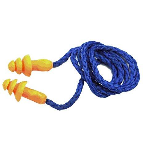 PhilMat Tappi per le orecchie morbide 3m 1270 spirale silicone anti- rumore udito protezione manicotti lavabili con cavo