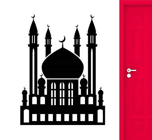 WERWN Pegatinas de Pared de Vinilo Islam Allah musulmán Eid Mubarak Sala de Estar Dormitorio decoración de Pared artística