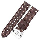 Sangle Bandes de montre à la main 22 24mm Cuir italien Vintage Strap Sangle Femmes Men Marron Brown Black Green Coffee...
