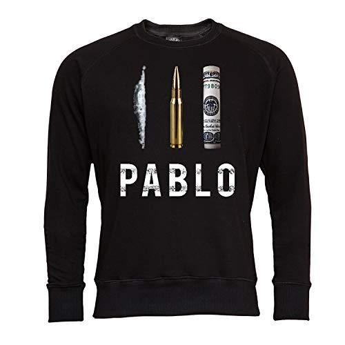 Rule Out Sweatshirt.Pablo Escobar. Narcos. Schwarz. Crewneck. Casual (Größe Medium)
