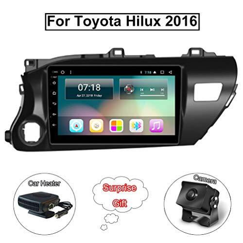 XMZWD 9 Pollici GPS Sistema di Navigazione Multimedia Player Android 8.1 HD Touch Screen Stereo Radio, per Toyota Hilux 2016 Supporto Bluetooth(Contengono Fotocamera/Riscaldatore Auto)