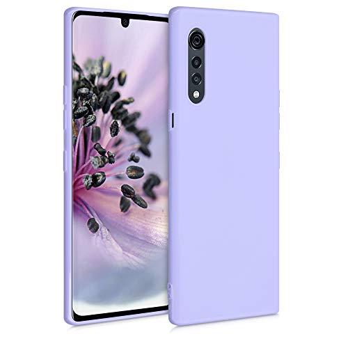 kwmobile Hülle kompatibel mit LG Velvet - Hülle Silikon - Soft Handyhülle - Handy Case in Lavendel