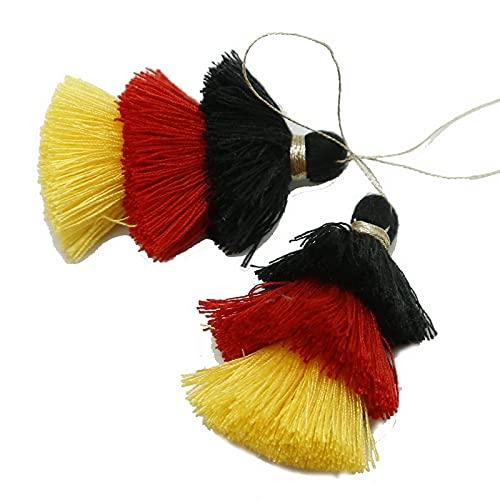 Pendiente de 75 mm de varios colores de gamuza para llavero, correas de teléfono móvil, dijes de joyería, colgantes de borlas para hacer joyas, accesorios de bricolaje (color: rojo)