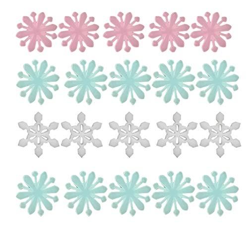 VOSAREA 200 Piezas Navidad Brillo en la Oscuridad Pegatinas de Pared Copo de Nieve Ventana Techo calcomanía DIY para Fiesta de Navidad decoración de la Pared