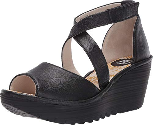 FLY London YOSI151FLY Black Mousse 38 (US Women's 7.5-8) M
