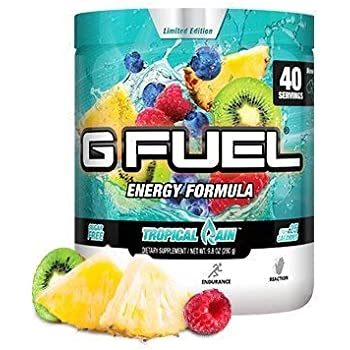 Amazon Com G Fuel Tropical Rain Tub 40 Servings Elite Energy And Endurance Formula 9 8oz Health Personal Care