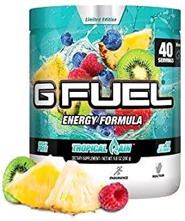 G Fuel Tropical Rain Tub (40 Servings) Elite Energy and Endurance Formula 9.8oz
