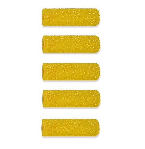 Grobschaum Strukturrolle Grobschaumwalze Grobschaumrolle Farbrolle Strukturwalze 11cm Schaumstoff für Putze und Spachtelmassen (5)
