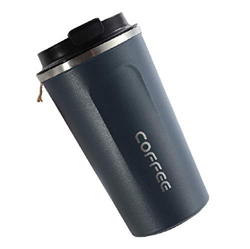 N-B 380ml / 510ml Frasco de vacío Taza de café de Acero Inoxidable Coche portátil Botella sin Aire Frasco de vacío de Viaje Botella de Agua Carta de Color sólido Taza de Agua