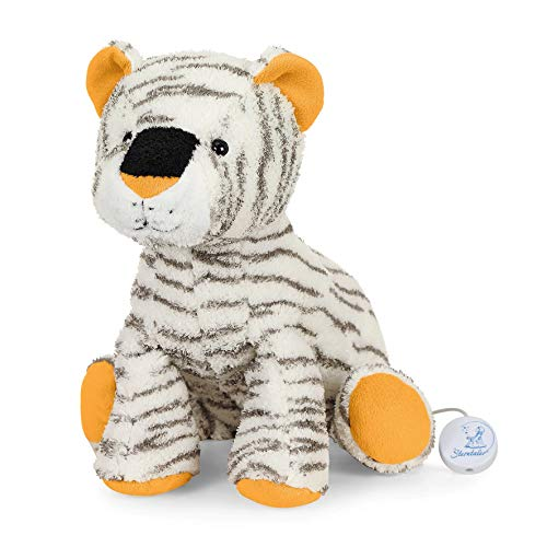 Sterntaler 6021954 Baby Spieluhr L Kuschelzoo Tiger Tapsi - aus über 100 Melodien ein Spielwerk wählen (* Melodie Brahms Wiegenlied (Guten Abend gute Nacht))