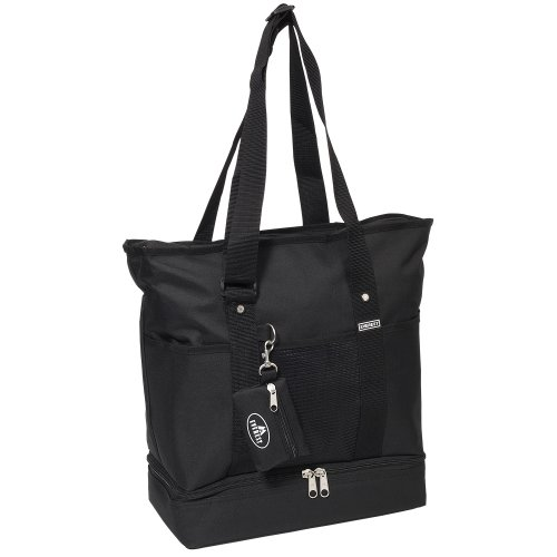 Everest Luggage Deluxe Shopping Tote, Black, Black, One Size