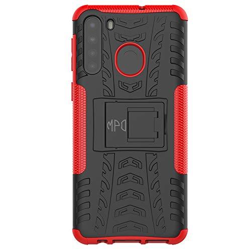 Max Power Digital Funda para móvil Xiaomi Mi 10 Lite 5G con Soporte Protección 360 Grados 2 en 1 Carcasa Dura Resistente Antigolpes Rígida Heavy Duty Rugged Armor Case (Xiaomi Mi 10 Lite 5G, Rojo)