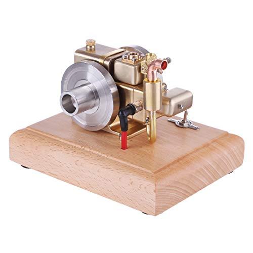 ColiCor Kit de modelo de motor Stirling, modelo de motor refrigerado por agua de gasolina de cuatro tiempos 2.6CC con base de madera