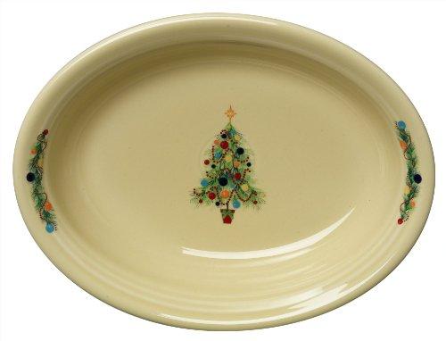 Fiesta Oval Vegetable Bowl, Christmas Tree