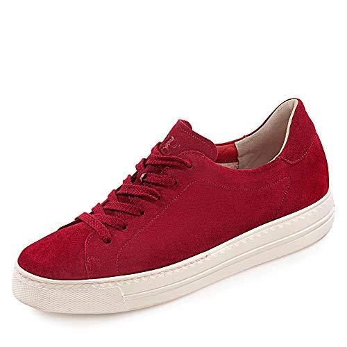 Paul Green 4707-034 Damen Sneaker Low aus Veloursleder mit Lederwechselfußbett, Groesse 39, Bordeaux