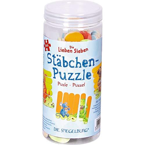 Die Spiegelburg 15731 Stäbchen-Puzzle Die Lieben Sieben (3x6 Teile)