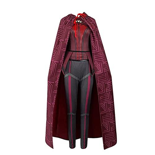 Wanda Vision - Disfraz de bruja escarlata para mujer, con tocado para Halloween, carnaval, Bruja Escarlata, S