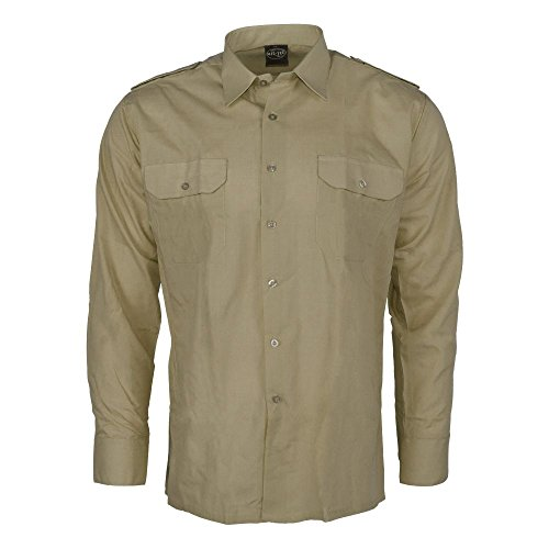Diensthemd 1/1 Arm T/C khaki M