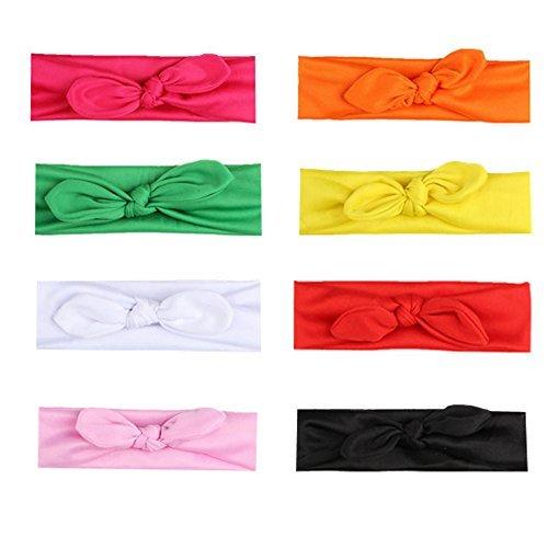 Mydio 8 Pack Vrouwen Hoofdbanden Haarband Strikken Accessoires,Meisjes Turban Headwraps Verschillende kleuren