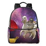 Sac à dos, grande capacité, sac à dos de voyage et de camping, sac à dos d'école, sac à dos de gym, de plein air, randonnée, sac d'ordinateur – Drôle de paresseux d'équitation Llama