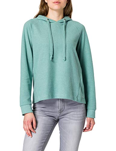 TOM TAILOR Denim Damen 1024508 Basic Hoodie Sweatshirt, Mineral Stone Blue, L