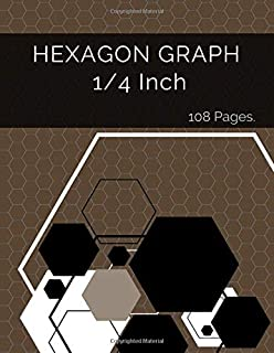 Hexagon Graph 1/4 Inch: Hexagonal Paper Is Popular With Gamers Of All Kinds As It Is Ideal For Drawing Game Maps