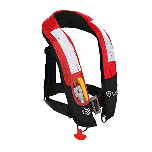 Eyson Inflatable Life Jacket Life Vest PFD Highly Visible Automatic (Red)