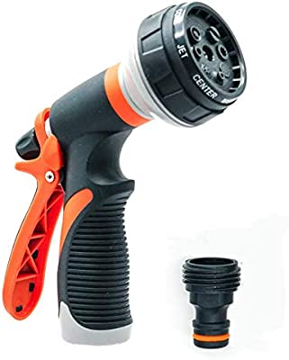 Premio Select Garden Hose Nozzle - Adjustable Spray Pattern Slip Resistant for Garden Cleaning Car Washing Pet Washing and General Water Fun