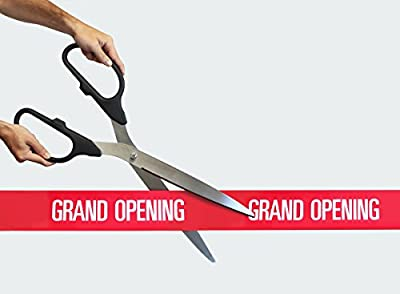 """25"""" Silver Ceremonial Ribbon Cutting Scissors for Grand Openings"""