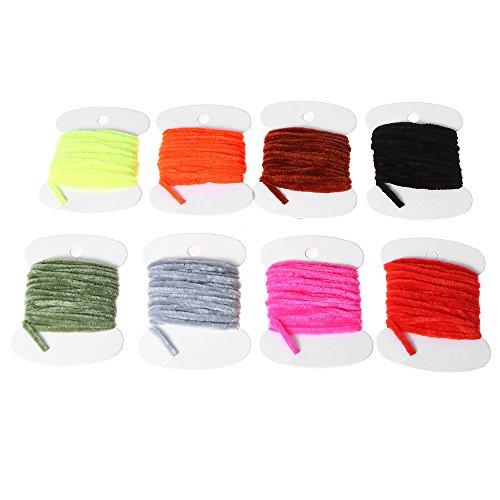 Lixada Los 3.0m Moscas de la Pesca con Mosca Hilo de Chenille Hilo de Rosca Woolly Fly Tying Materials