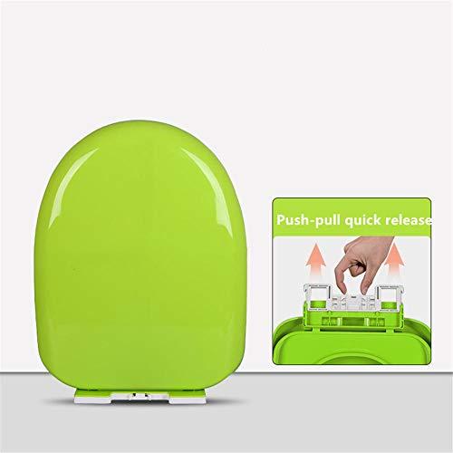Tapa De Wc, Asiento De Inodoro Con Cierre Suave De Liberación Rápida Para Una Fácil Limpieza, Fijación Superior, Material Pp Antibacteriano